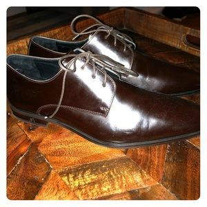 Versace collection brown dress shoes